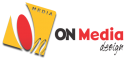On Media Design Logo